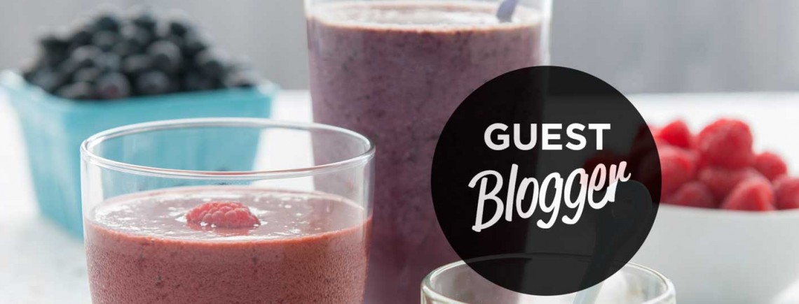 AHAALiving: Joyous Health Guest Blogger blueberry smoothie Horizontal