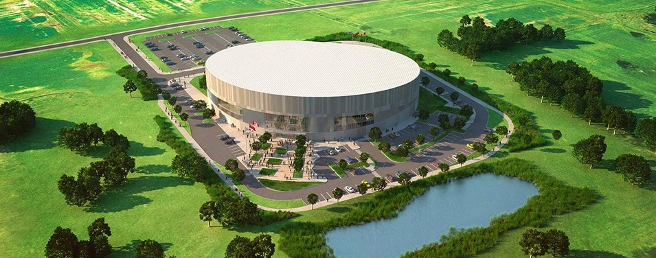 AHAA Living: blog, Milton Velodrome, Mattamy National Cycling Centre aerial view